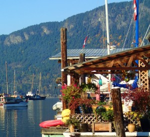 Floathouse community in Cowichan Bay