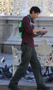 The pigeon catcher