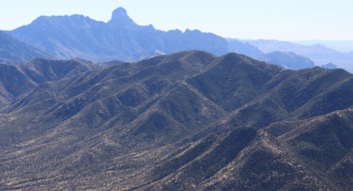 Baboquivari from the north, as seen on Kitt Peak