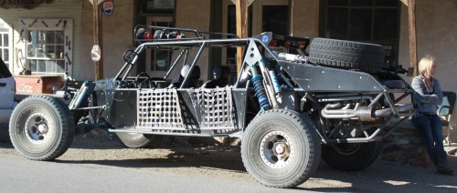 A doom...I mean dune buggy with compulsory trophy chick zoom, zoom baby