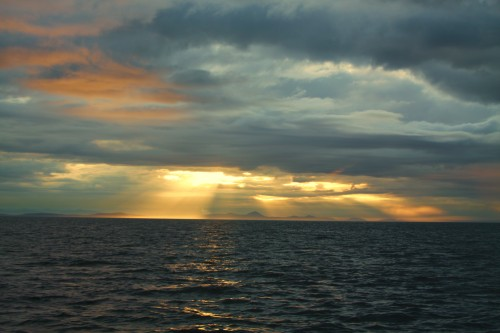 Dawn on Juan De Fuca Strait