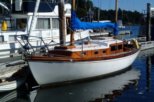 1964 Cheoy Lee Bristol, A first cousin to Avanti, the Cheoy Lee I'm finishing up. The Bristol owner reports that the boat, formerly his father's, is on its third teak deck!