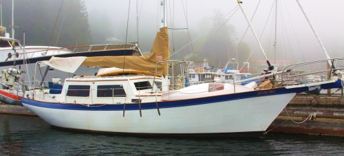 'Seafire' herself, the old prune barge hunkers down for another Pacific Northwest winter