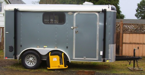 "The New Rig. Apart from the windows and the awning, it doesn't shout ""Look at me."""