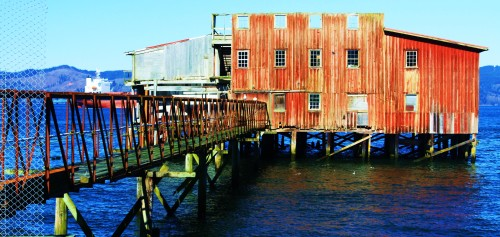 The last cannery to be seen out on pilings. There used to be dozens.