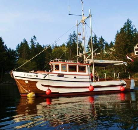 Rhapsody in wood. 'Fraser' a classic salmon troller.