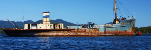 The 'Chilcotin Princess' a droemer coastal trader in these waters. Fortunately I grabbed this photos only a few days before she was towed off to the breaker's yard in Prince Rupert