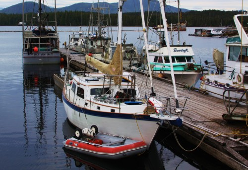 "Seafire at the Shearwater ""Hobo"" dock"