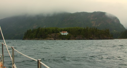"The ""Ugly House"" Milly Island near Port Neville on Johnstone Strait"