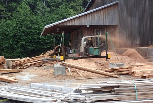 Value-Added Forestry This sawmill produces beautiful cedar lumber from beach-combed logs.