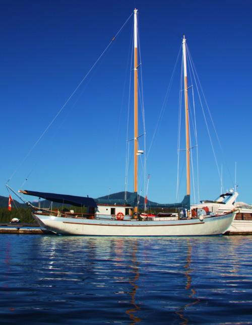 A famous BC-built schooner 'Passing Cloud'