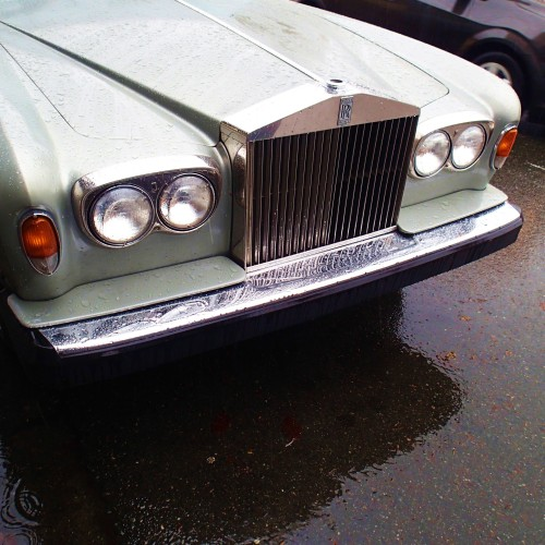 Rolls Royce in the rain.