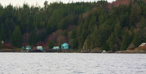 Downtown Minstrel Island, once a rollicking hub of the logging and mining communities in the Knights Inlet area