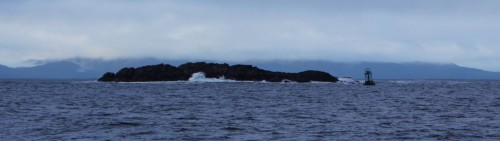 "Wentworth Rock some mariners call Queen Charlotte Strait ""The rock garden,"" Few rocks and reefs have a light."