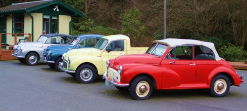 Yes Really! A car lot in Port Townsend The cars are all 60s vintage Morris Minors