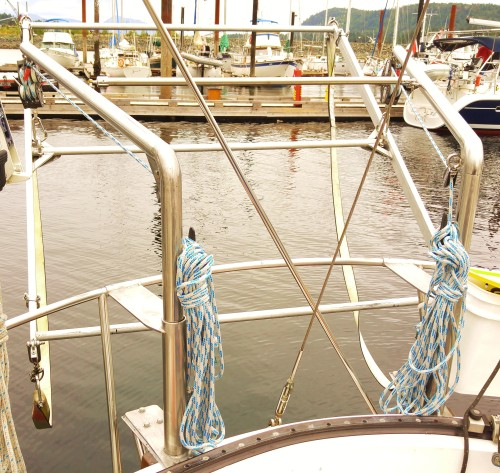 Meanwhile, back on board 'Seafire'... New Davits