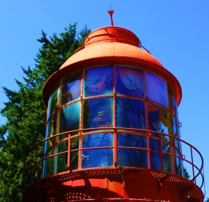 Now THAT'S a lawn ornament! The old Sheringham Point Light , salvaged to make a small museum in Sooke on Southern Vancouver Island.