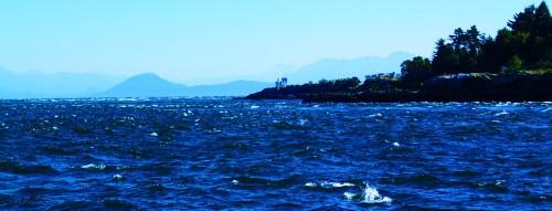 Porlier Pass, wind against flood tide