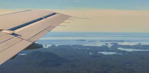 The Goose Islands and the waters of Millbanke sound beyond.